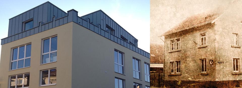 Historie des 48Stenger: das Gebäude in Goldbach früher und heute